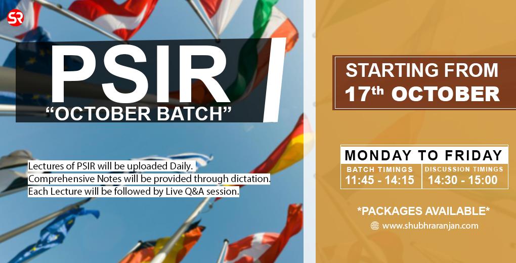 PSIR October Batch