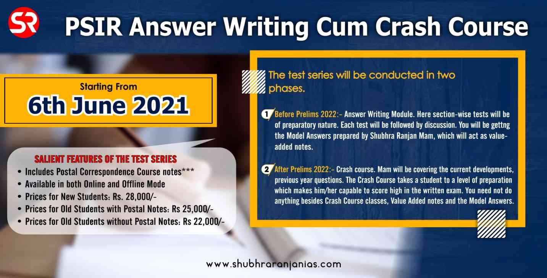 PSIR Answer Writing